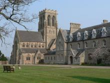 Belmont Abbey, Herefordshire, with the Abbey church of St Michael and All Angels on the left: Photo Credit: Poemen